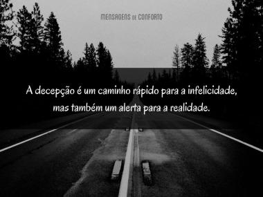 A decepção é tristeza e realidade