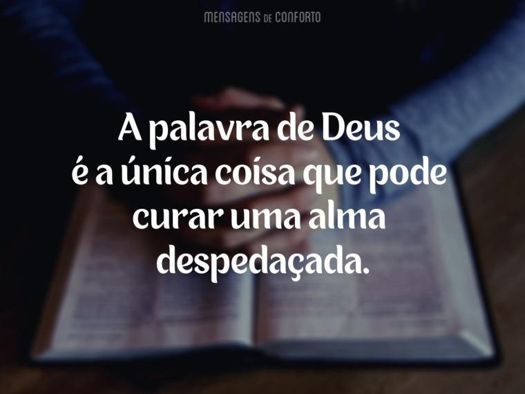 A palavra de Deus cura