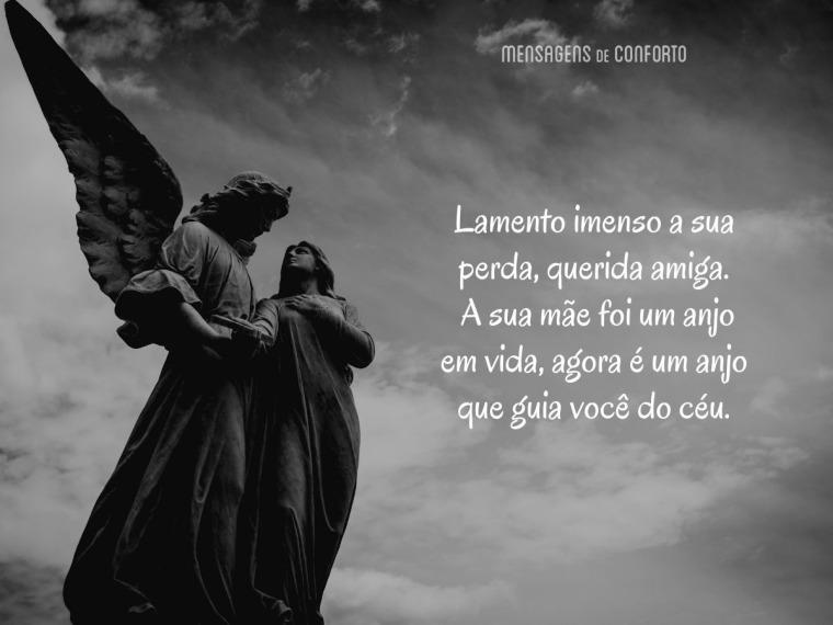 A sua mãe é um anjo que guia você, querida amiga