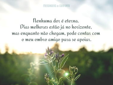 Nenhuma dor é eterna