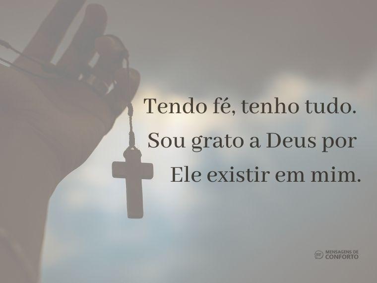 O Senhor existe dentro de mim