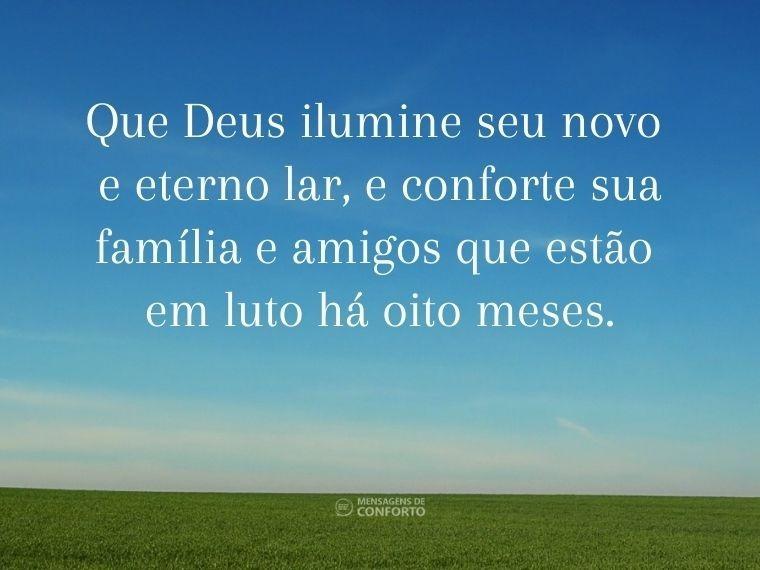 Seu lar é eterno e iluminado por Deus