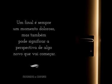 Um final é sempre um momento doloroso